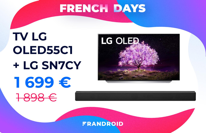 French Days : excellent prix pour le TV LG OLED55C1 livré avec une barre de son