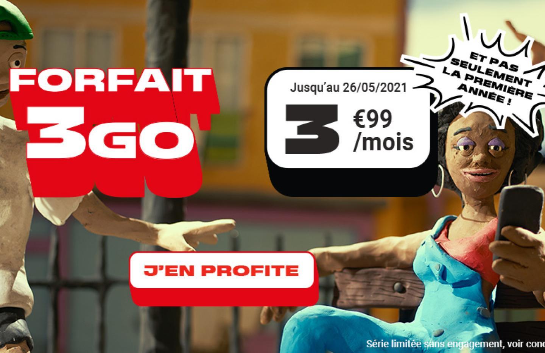 Pas besoin d'une grosse enveloppe 4G ? Ce forfait mobile 3 Go à 4 €/mois est pour vous !