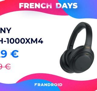 Le Sony WH-1000XM4 bénéficie d'une réduction inédite durant les French Days