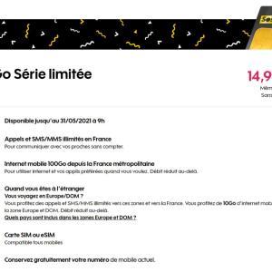 Sosh propose pour la première fois un forfait 100 Go à moins de 15 €/mois