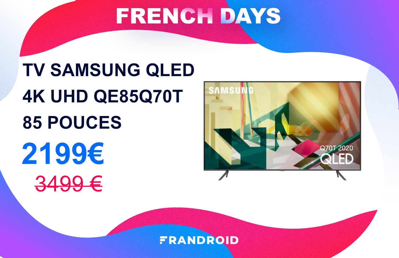 Cette immense TV QLED 85 pouces de Samsung est en promotion pour les French Days