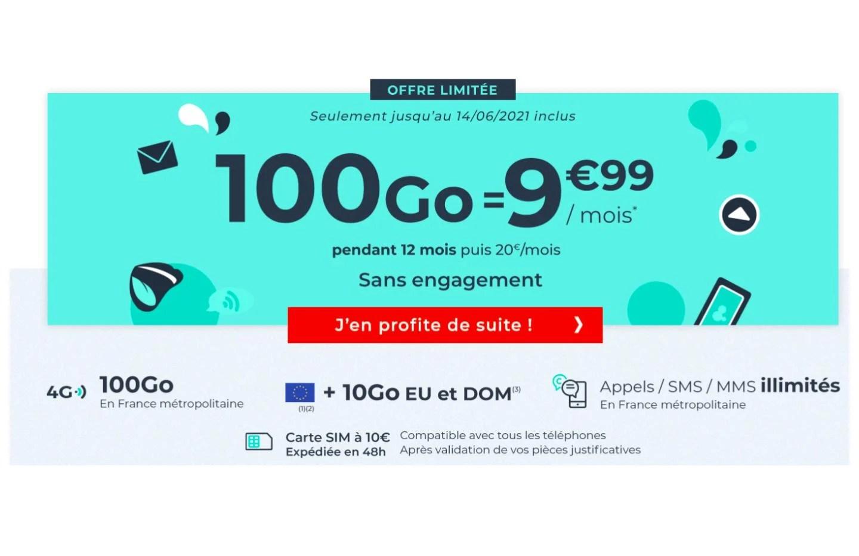 Cdiscount Mobile : ce forfait 4G 100 Go est à moins de 10 euros par mois