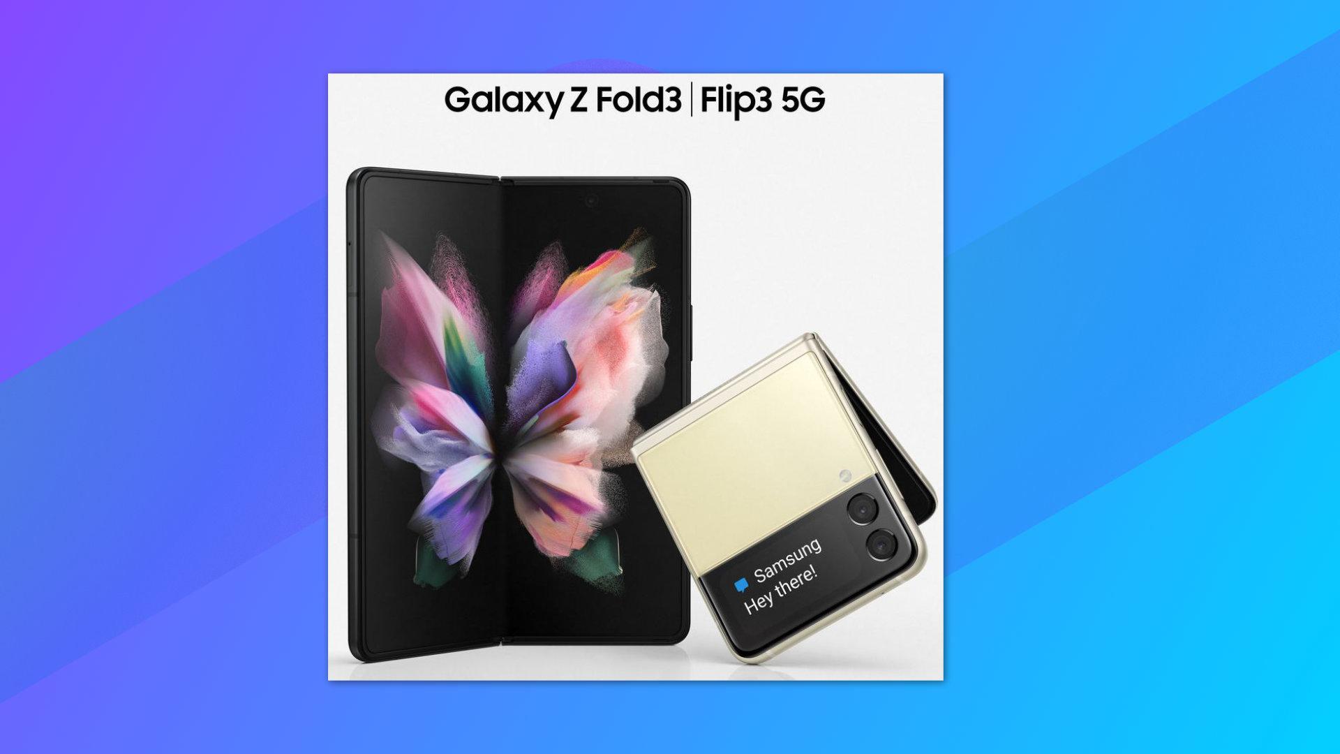 Samsung Galaxy Z Fold 3 et Galaxy Z Flip 3: voici l'image la plus crédible de leurs designs