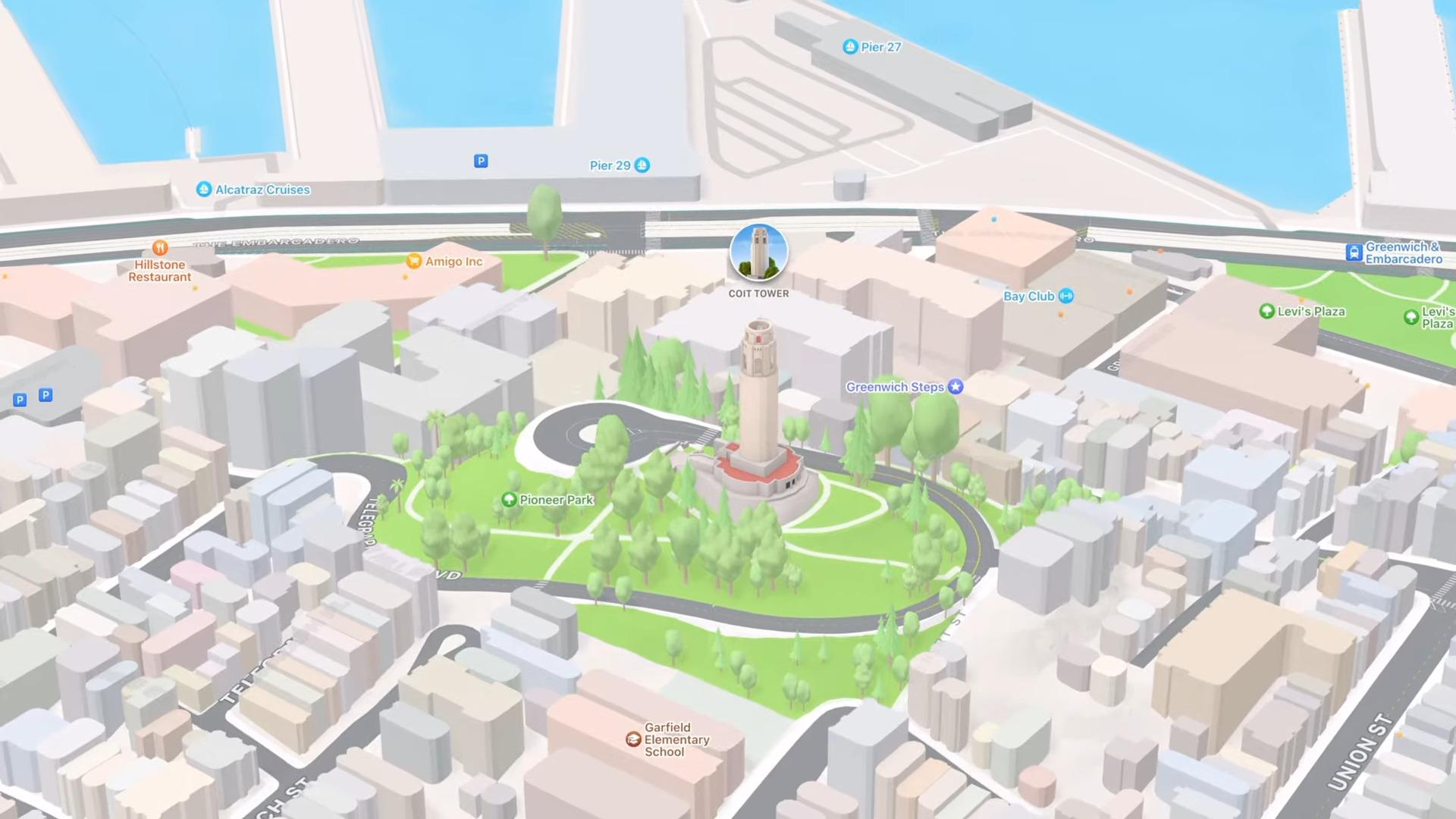 Apple Plans passe à la 3D avec des vues ultra détaillées