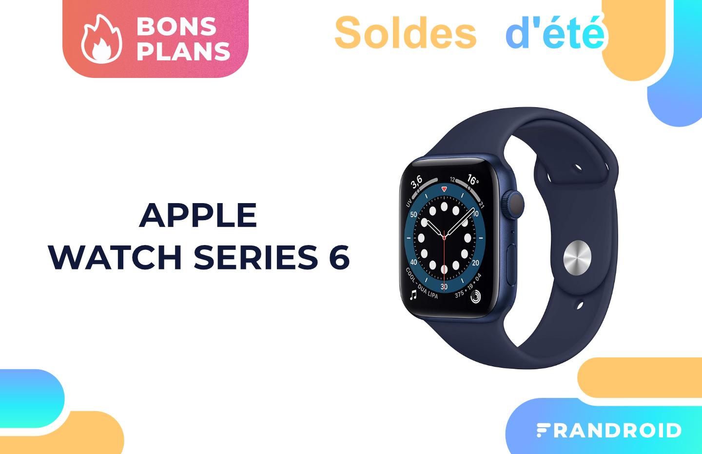 L'Apple Watch Series 6 (44 mm) est à -12% pour les soldes sur Amazon