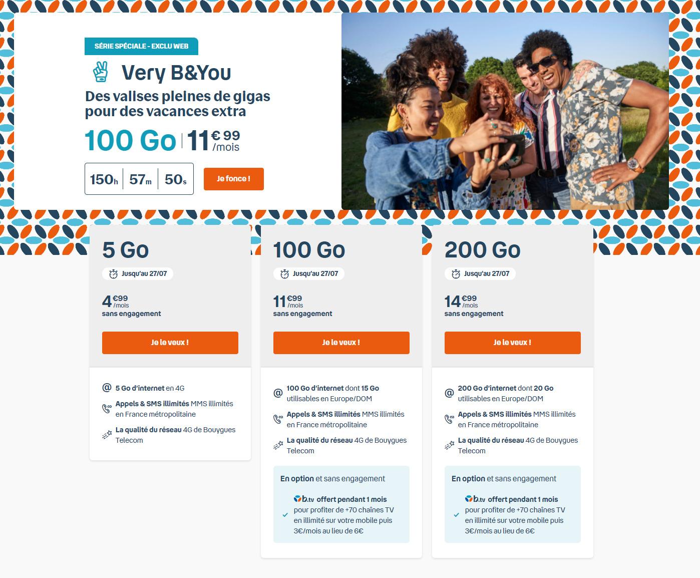 B&You : 100 Go de 4G pour 11,99 euros par mois, c'est le forfait du moment