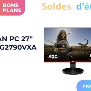 Cet écran gaming AOC de 27″ et 144 Hz ne dépasse pas les 152 euros pendant les soldes