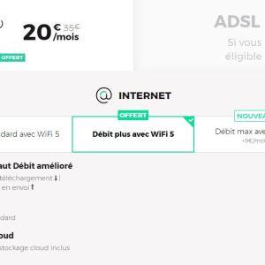 Le premier mois est offert pour cet abonnement Fibre 1 Gbit, puis 20 €/mois