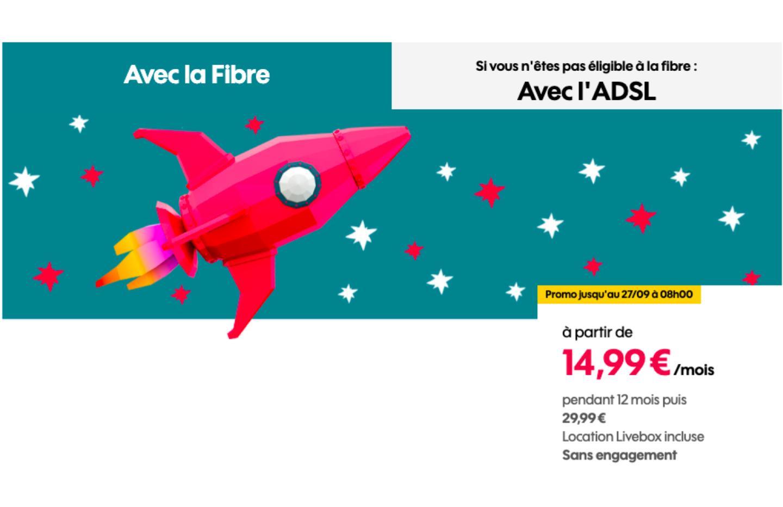 Seulement 14,99 € par mois pour la boîte Sosh avec Fibre ou ADSL