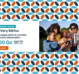 Bouygues lance un forfait mobile «Very B&You» 100 Go à seulement 11,99 €/mois