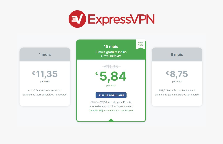 Express VPN : le service offre 3 mois sur son abonnement annuel