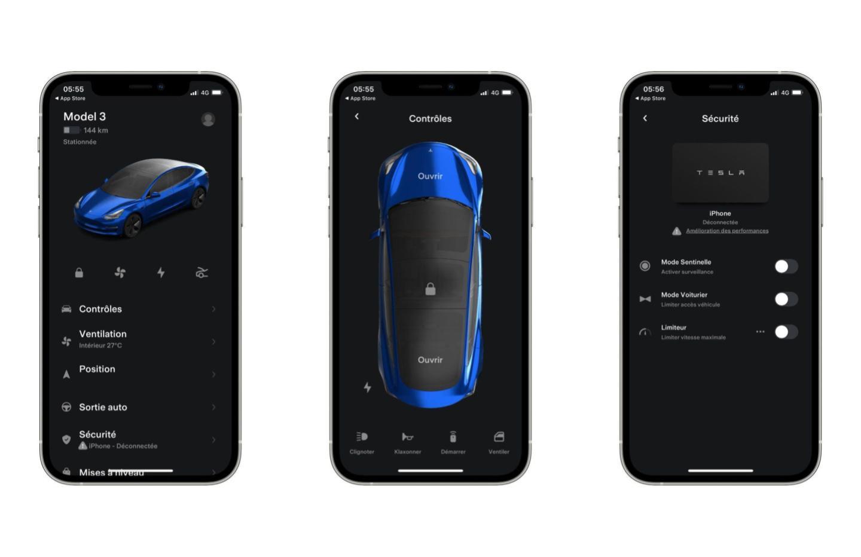 L'application Tesla a été mise à jour, voici les principales nouveautés