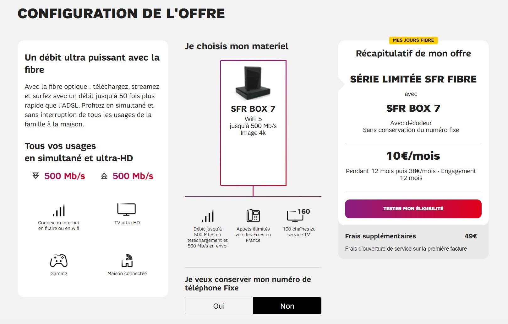 SFR prolonge son offre Fibre à seulement 10 €/mois (Internet + fixe + TV)