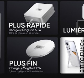 MagDart : Realme officialise ses chargeurs magnétiques ultra-rapides