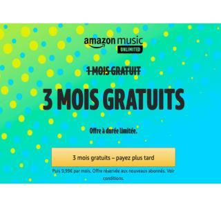Le service musical Amazon Music Unlimited est gratuit pendant 3 mois