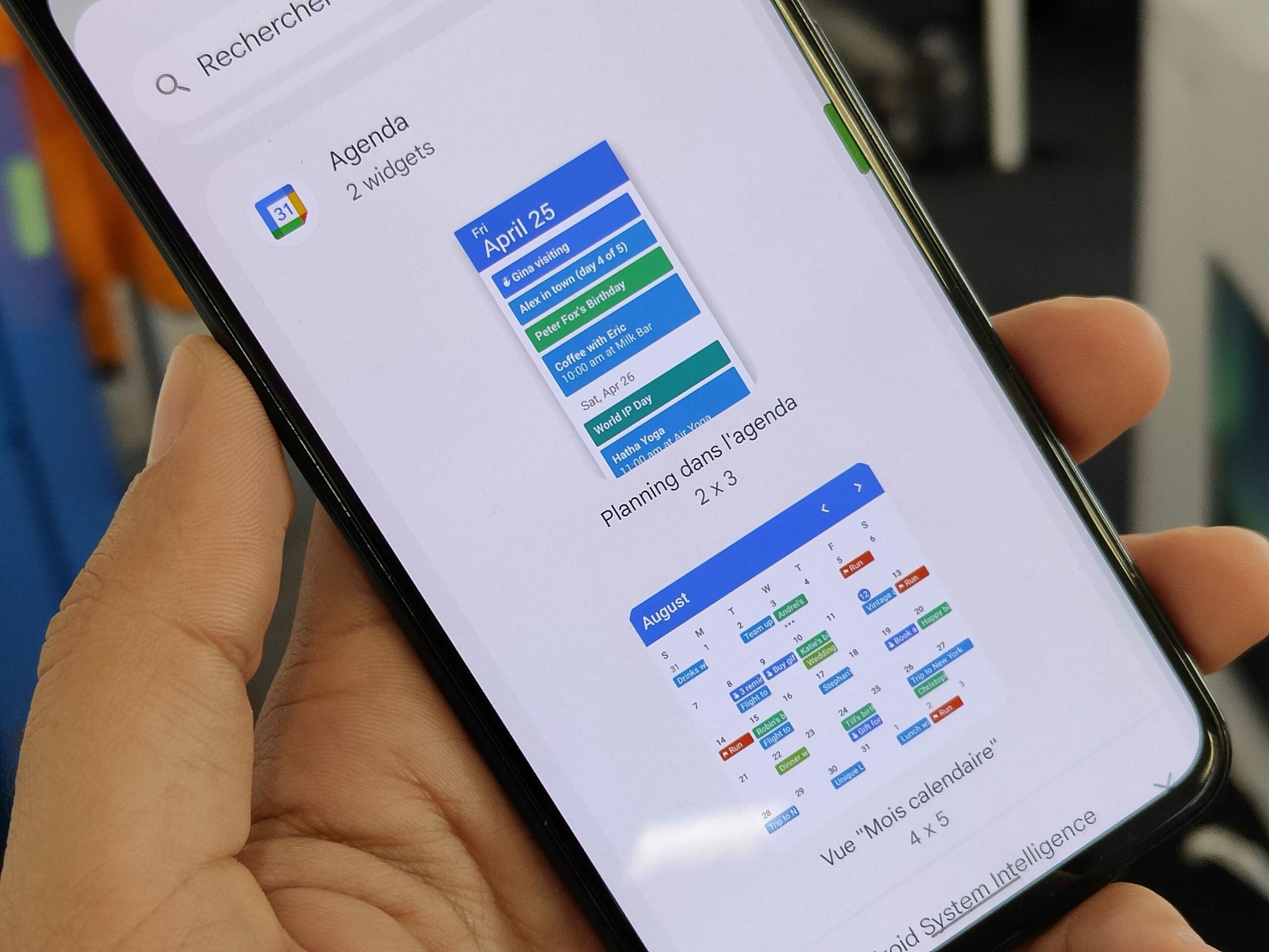 Google Agenda sur Android 12 : le widget profite d'un petit plus qui le rend pratique