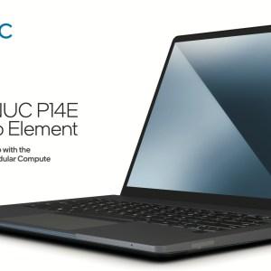Intel NUC P14E : après le mini PC, voici le PC portable modulaire