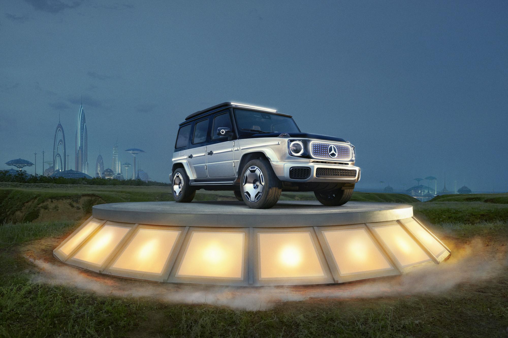 EQG : Mercedes présente un concept électrique de la légendaire Classe G tout-terrain