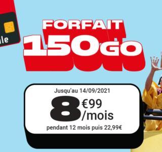 Ce forfait mobile 150 Go est en promotion à 8,99 €/mois jusqu'à demain seulement