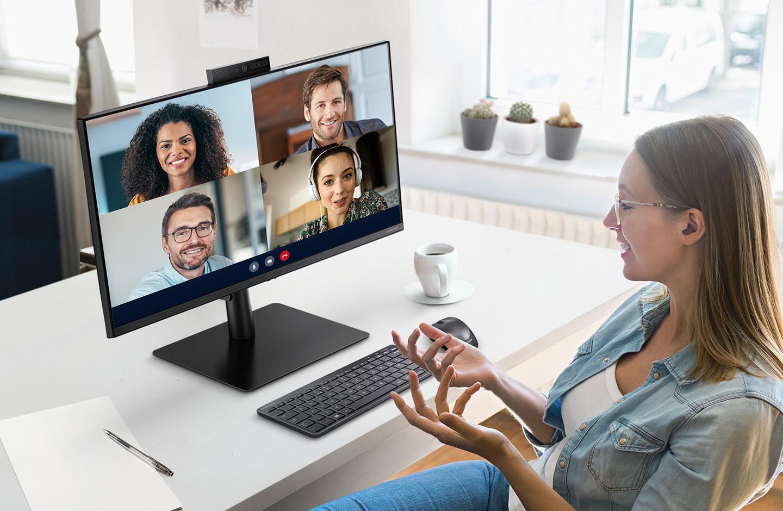 Samsung lance un écran PC avec webcam rétractable et Windows Hello