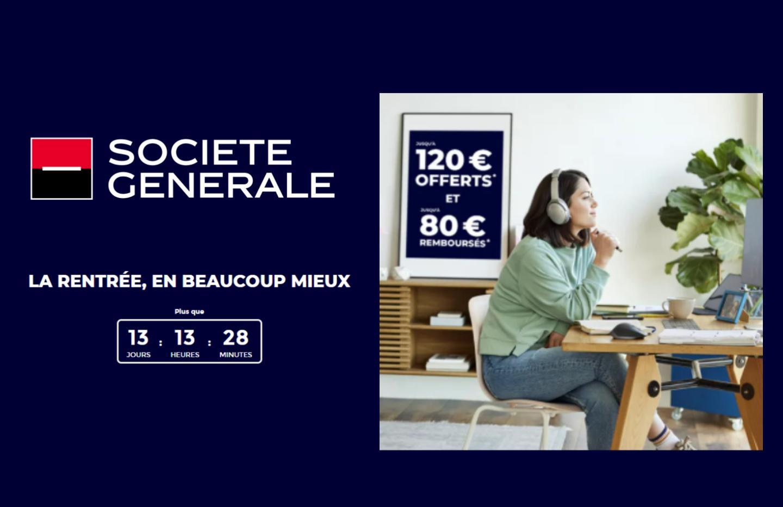La Société Générale offre jusqu'à 200 € pour l'ouverture d'un compte Sobrio