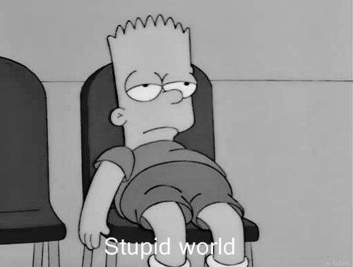 bart-simpson-stupid-world