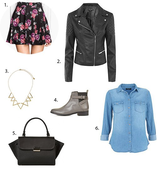 jupe patineuse h&m look