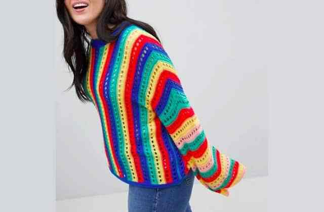 pull crochet grandes tailles