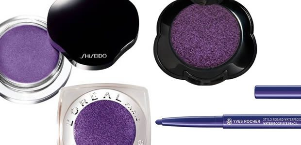 Comment porter le maquillage violet sur les yeux ?