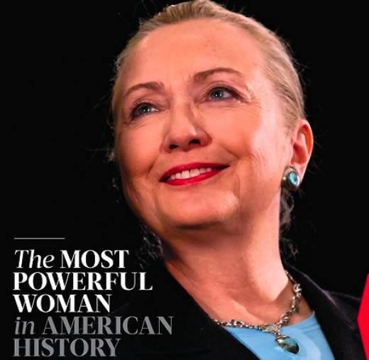 Hillary Clinton, femme la plus puissante de l'histoire des États-Unis