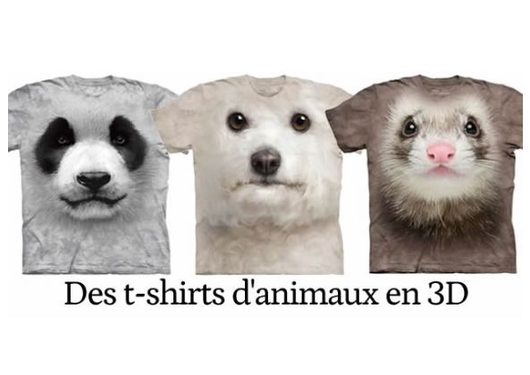 t-shirts-3d-animaux