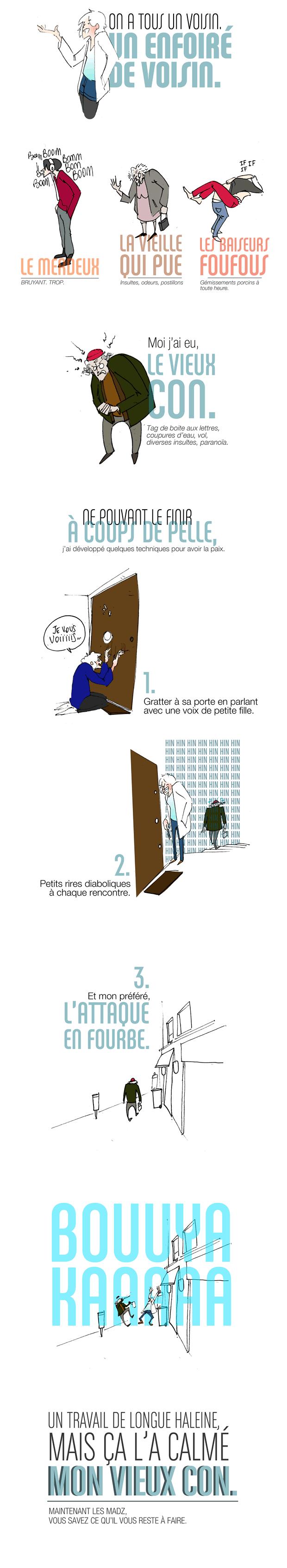 Comment gérer son vieux con de voisin ?