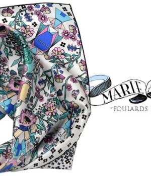marie-antoilette-lance-ligne-foulards-imprimes