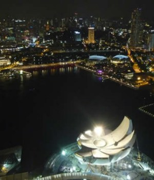 vue singapour nuit