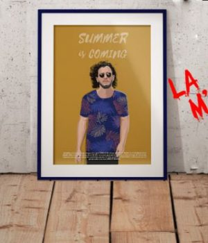 affiche-jon-snow-summer-coming-game-of-thrones