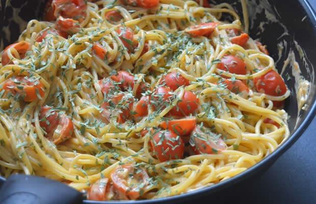 recette spaghettis tomates lait de coco