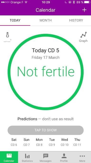 Une application de «contraception» repose sur la méthode peu fiable du suivi de cycle