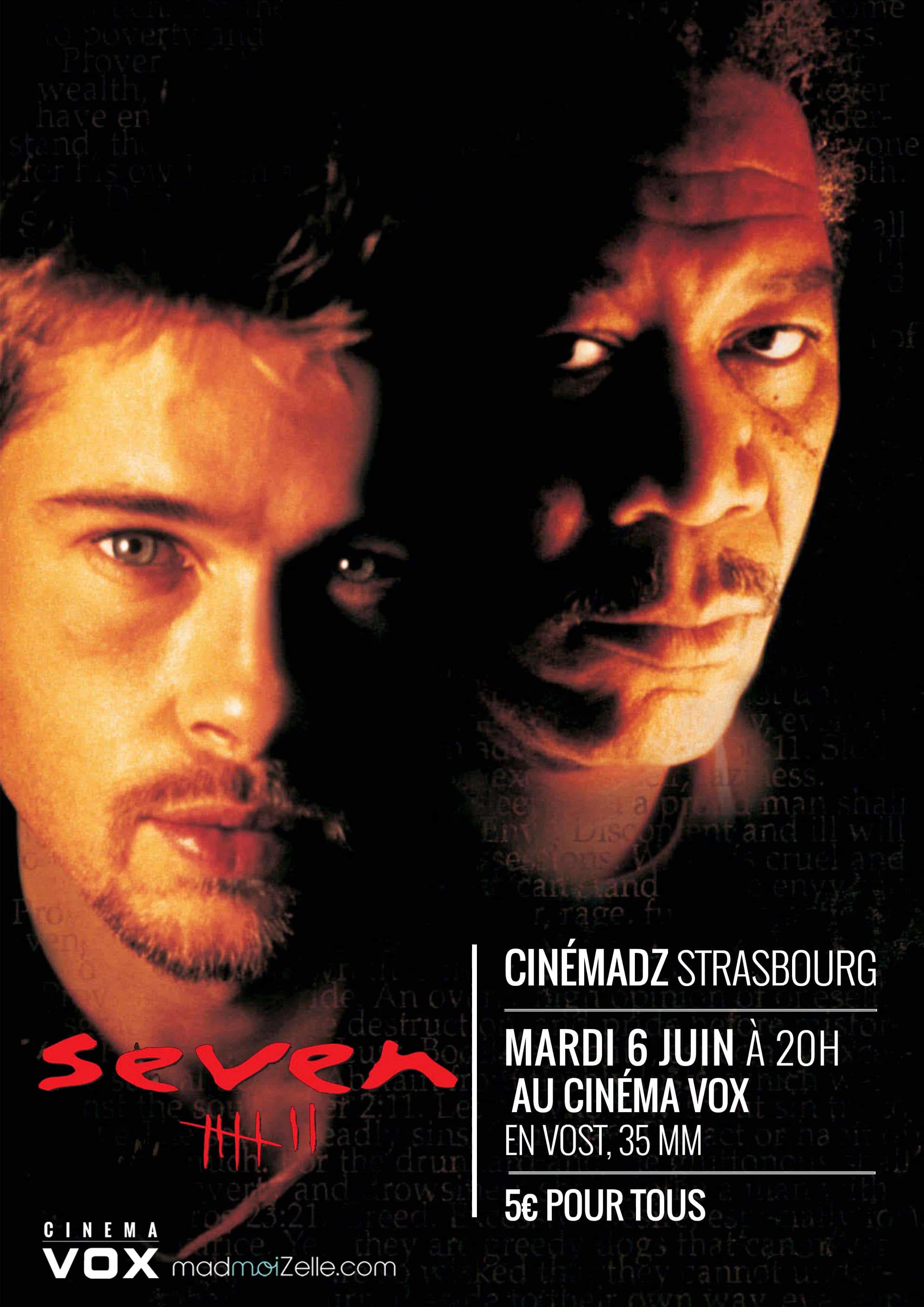 CinémadZ Strasbourg — Seven en VOST le 6juin à 20h
