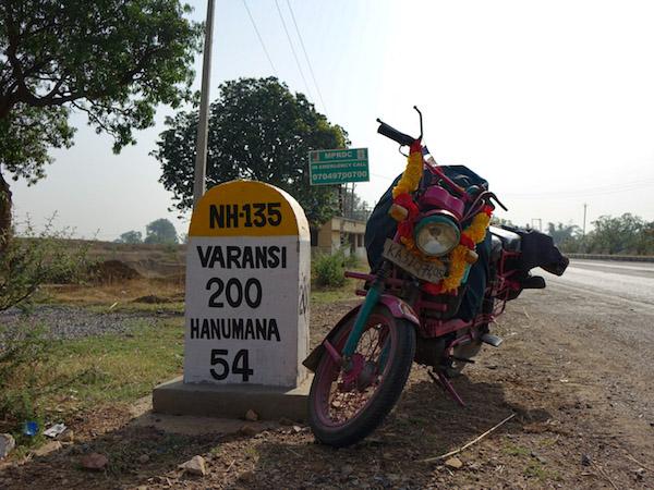 Carte postale de l'Inde — Mon périple en mobylette