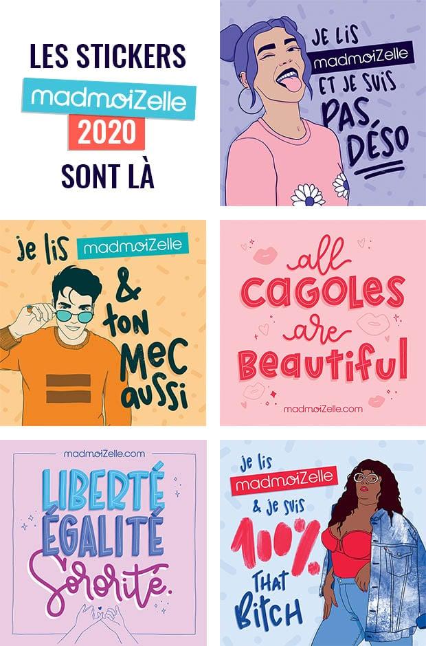 On reprend les envois de stickers Madmoizelle 2020, commandez les vôtres gratuitement!
