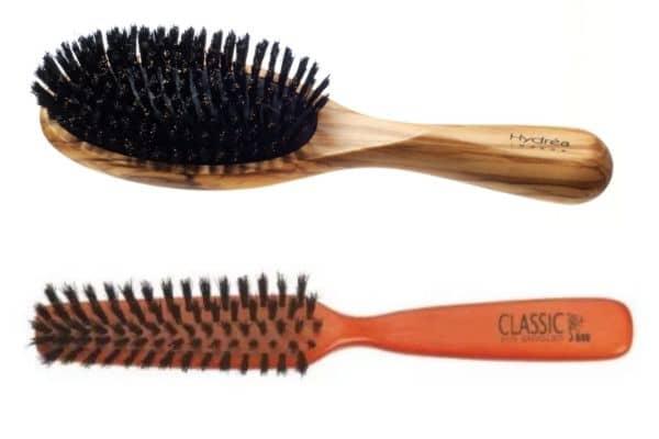 brosse poil de sanglier cheveux