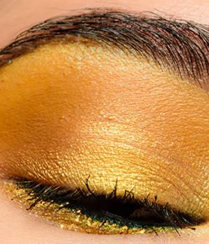 comment-porter-maquillage-jaune