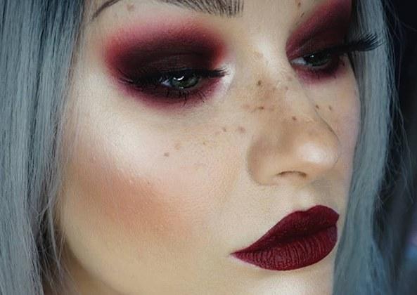maquillage grunge romantique