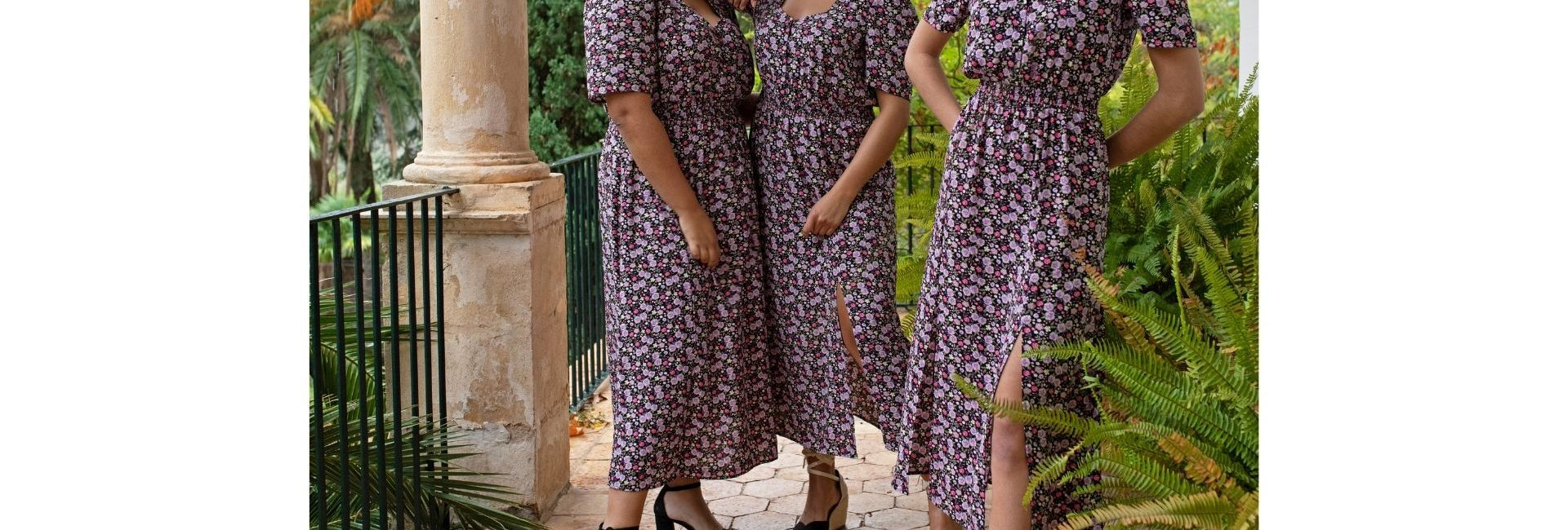Trois filles de morphologies différentes habillées dans la même tenue Kiabi