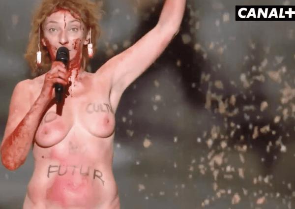 Durant les César, l'actrice Corinne Masiero a fait de la nudité un outil politique