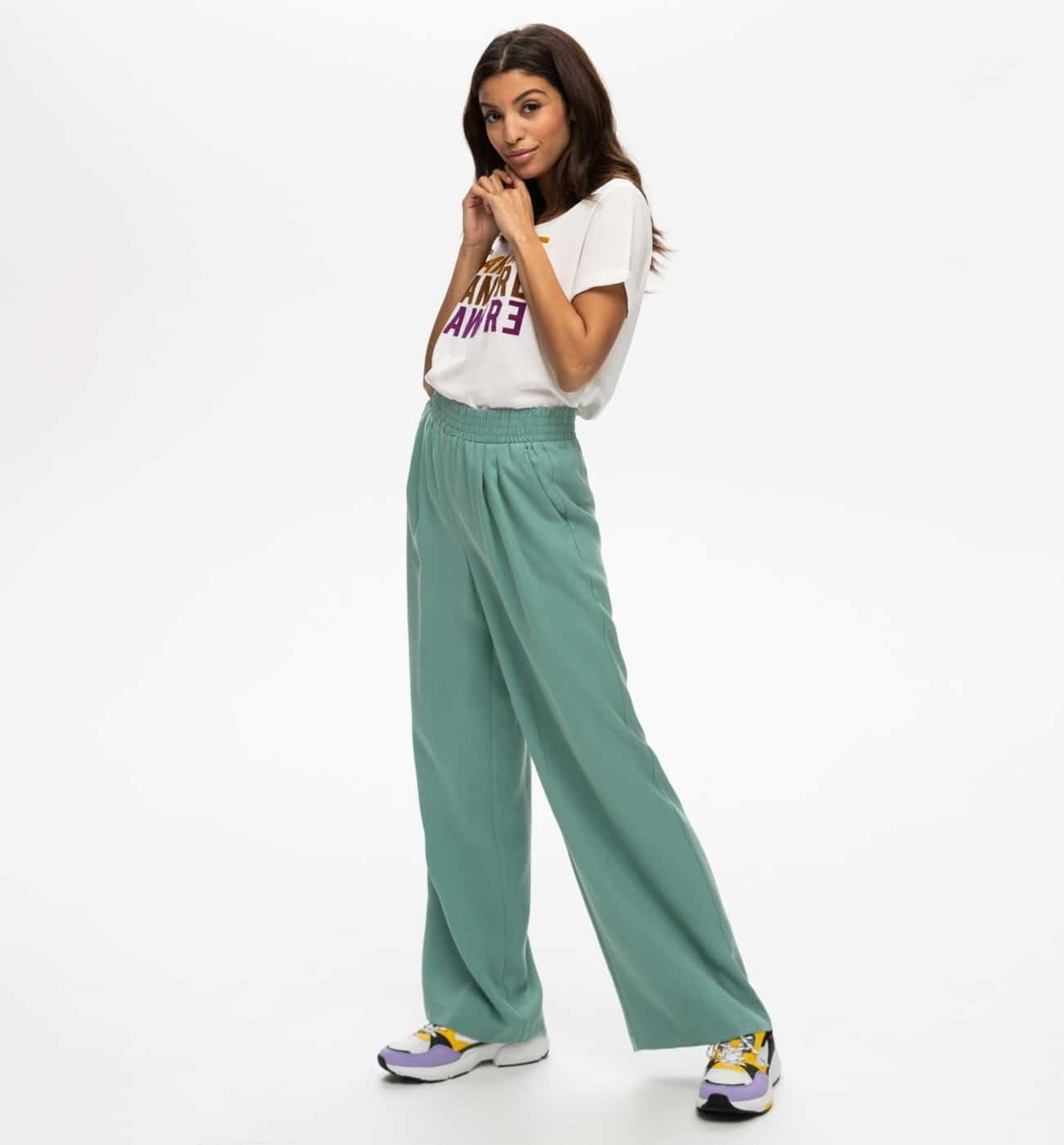 Pantalon large en lyocell, Promod, Promod, 39,95€.
