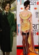 Dua Lipa en Vivienne Westwood aux BRIT Awards 2021