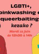 LGBTI+, pinkwashing et queerbaiting : kezako ? Live-Twitch du 22 juin 2021
