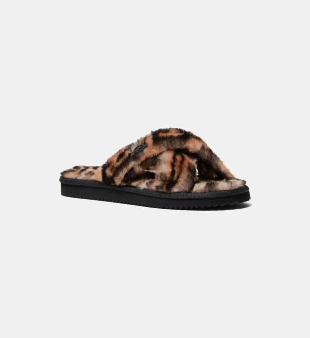 MICHAEL MICHAEL KORS — Pantoufles Lala effet fourrure animalier