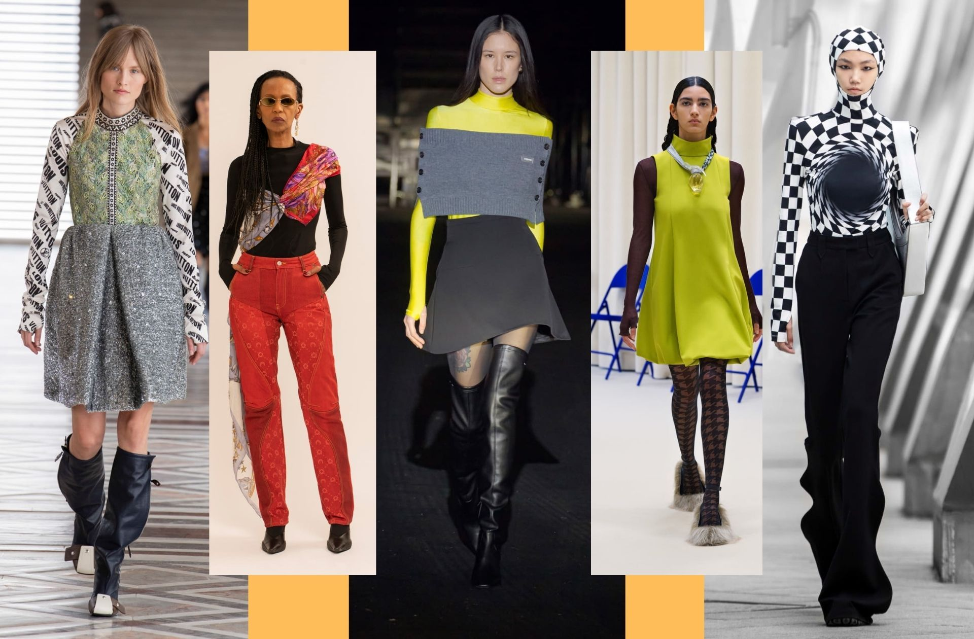 Les hauts seconde peau à manches mitaines chez Louis Vuitton, Marine Serre, Coperni, Nina Ricci, Annakiki